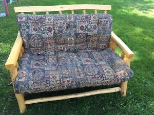 Love seat and Chair from Rustic Craft