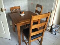 Small dining table 2 matching chairs