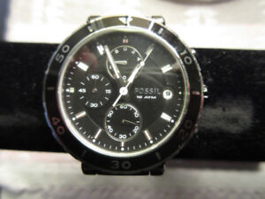 Woman`s Fossil Watch, black, model Ch2579.  Timmins only.