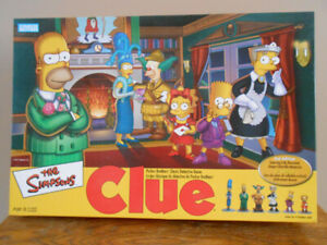 Parker Brothers Simpsons Clue Board Game 2nd Edition