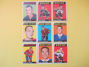 9 1965-66 hockey cards: Armstrong, Crozier, Green, Talbot