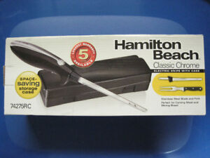 Hamilton Beach Electric Knife Set with Case 74275RC BNIB