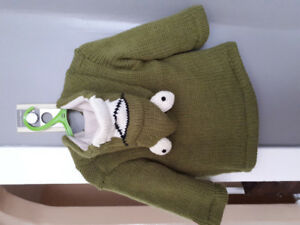 Kids Frog Knitted Sweater (size small)