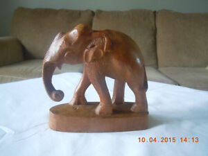 Hand Carved Solid Wood Elephent Kitchener / Waterloo Kitchener Area image 3