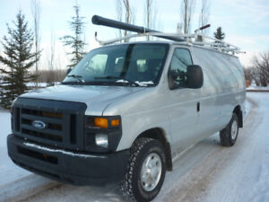 2011 Ford E-250 Cargo Van ROOF RACK, SHELVING, LOW LOW KMS!!