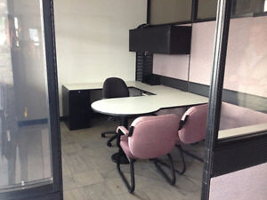 Office partitions and desks