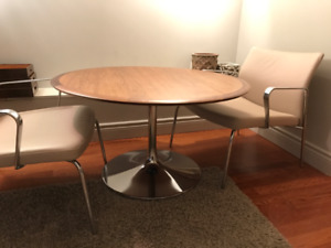 2 Chaises - fauteuils cuir / Arm chairs lounges real leather