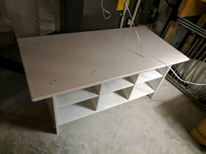Ikea wood coffee table painted white