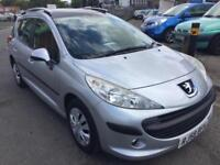 PEUGEOT 207SW 1.6HDI 90 S ESTATE> £30 A YEAR TAX..GOOD CONDITION..DRIVES GREAT