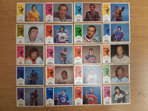 20 cards from 1974-75 O-Pee-Chee WHA hockey card set