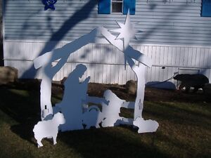 Nativity scene cut outs