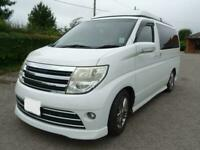 Nissan Elgrand 2 Berth 5 Seatbelts Motorhome For Sale