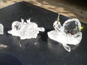 Swarovski Crystal Butterfly and Snails Figurines Kitchener / Waterloo Kitchener Area image 6