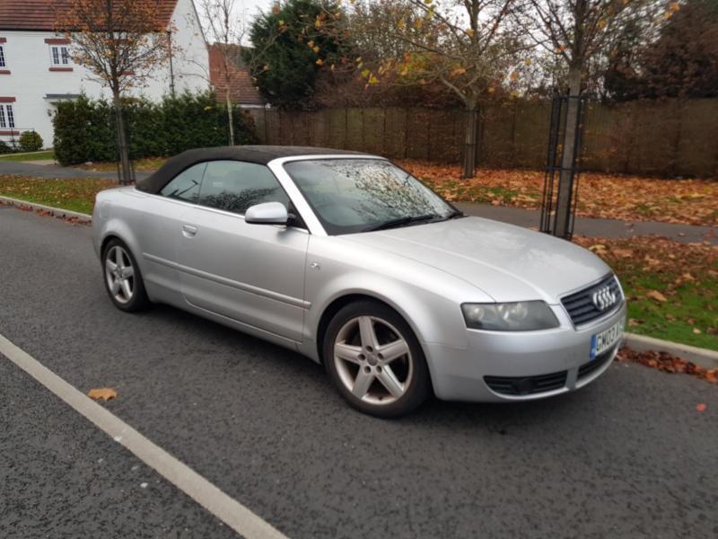 2003 Audi A4 Cabriolet 3 0 Sport 79000 Miles