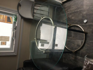 42 inch round glass table top
