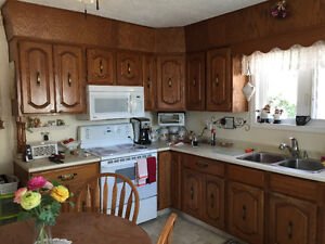 Solid Oak Wall Cabinets and Base Cabinets