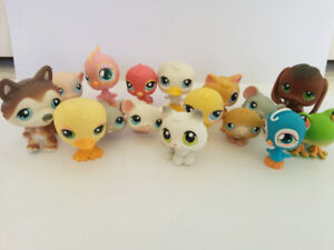 Littlest Pet Shops group of 15 by Hasbro, gently used