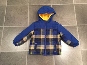 EUC fall-winter-spring jackets, snow suit & boots for boy 4-6yo