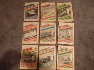 Vintage Collection of 6 WHEELSPIN NEWS Canada's Motorsport News