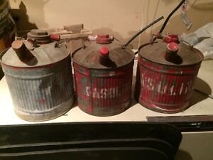 Antique Steel Gas Cans