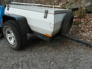 motorcycle trailer 4' W  X 5 ' L utility fully enclosed with top