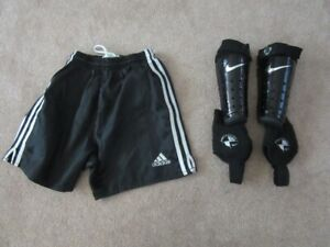 Adidas Youth Soccer Shorts and Shin Guards