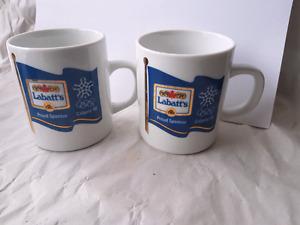 Vintage Labatts Mugs