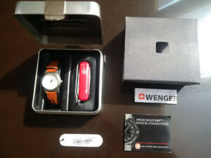 Swiss Military Wenger Army Watch Knife Gift Kit Like New in Box