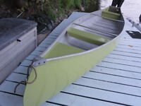 aluminum canoe 16 ft square stern w/ optional 4.5 hp outboard