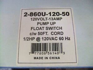 boshart pump up float switch brand new in box for sump pumps Cambridge Kitchener Area image 2