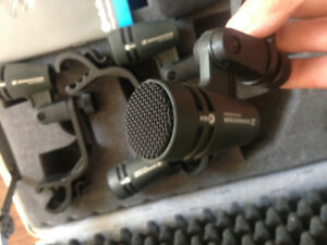 Sennheiser e604 (4pack in fitted case) only used for 18 months