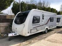 2014 Swift Conqueror 565 4 Berth caravan FIXED SINGLE BEDS MOTOR MOVER Bargain !