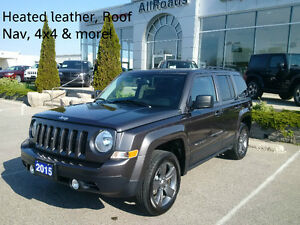 2015 Jeep Patriot North High Altitude 4x4 with Nav only 18000kms