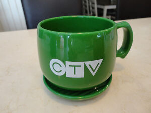 Vintage CTV Television Cup & Saucer -Made from Natural Corn USA Kitchener / Waterloo Kitchener Area image 6