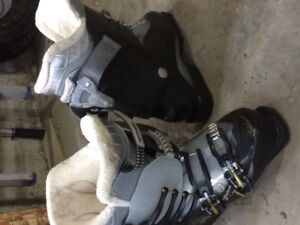 Ski boots and helmets