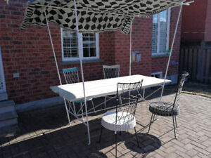 Crate & Barrel Designer Outdoor Dining Table  by Paola Navone