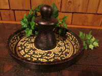 NEW Pier 1 Mosaic Vine Tabletop Fountain