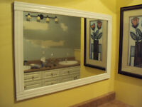 2 matching white framed mirrors!! new price