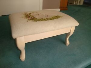 Footstool with Queen Anne legs