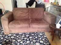 FREE suede brown double seater sofa