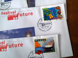 Festival of the Future, 4 Stamps, First Day of Issue Kitchener / Waterloo Kitchener Area image 3