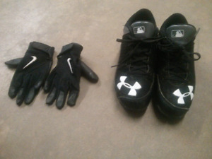 Baseball Cleats and Batting Gloves