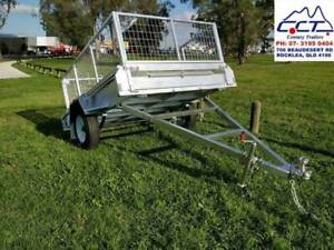 FREE REGO 8x5 Galvanized Box Trailer With 600mm Cage