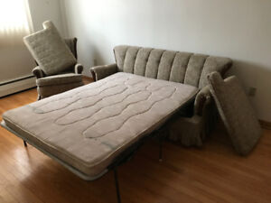 Sofa-Bed and chair