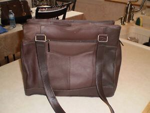 Fiona two tone brown leather purse