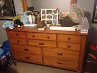Solid wood dresser and night stand
