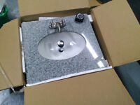 Solid 1 peice Vanity Top, with faucet