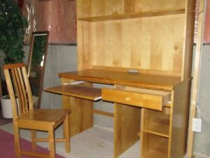 Desk and Chair with Bookshelf