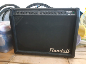 Randall 100W 2x12 inch combo stereo guitar amp and footswitch