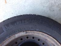 Michelin X-Ice Winter Tires 185/65 R15 on Rims